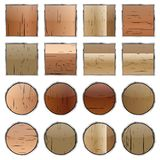 A set of wooden buttons, vector Stock Photos