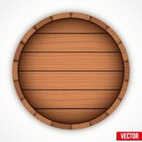 Set of wooden casks for alcohol drinks emblem Royalty Free Stock Image