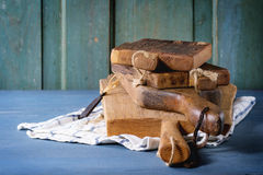 Set of wooden chopping boards Stock Photo