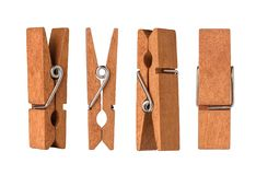 Wooden cloth pegs Royalty Free Stock Image