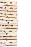 Set Of Wooden Clothes Pins. Stock Images
