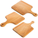 Set of wooden cutting board Stock Photos