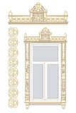 Set of wooden decorations. For the window Royalty Free Illustration