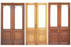 Set of wooden doors Royalty Free Stock Photos