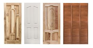 Set of wooden doors Royalty Free Stock Images