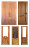 Set of wooden doors. Isolated over white Royalty Free Stock Photo