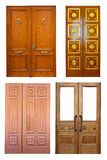 Set of wooden double doors Royalty Free Stock Photos