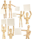 Set of wooden dummies Royalty Free Stock Photo