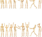 Set of wooden dummies Stock Photography