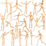 Set of wooden dummies Royalty Free Stock Image