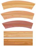 Set of wooden elements, vector Stock Photography