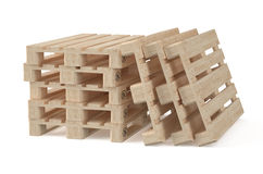 Set of wooden eur pallets Stock Photo