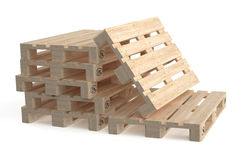 Set of wooden euro pallets Stock Images