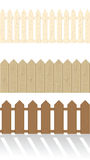 Set of wooden fences Stock Photo