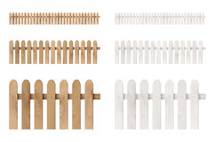 Set of wooden fences Stock Images