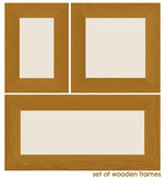 Set of wooden frames Stock Photo