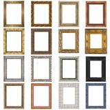 Set of wooden frames Royalty Free Stock Images