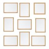 Set of  wooden frames Stock Image