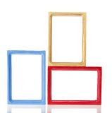 Set of a wooden framework for photo Royalty Free Stock Images