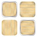 Set of wooden icons Stock Photos