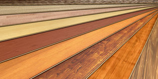 Wooden laminated construction planks Royalty Free Stock Photo