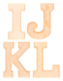 Set of wooden letters of the alphabet Royalty Free Stock Photo
