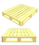 Set of wooden pallet. Isolated on white. Vector Stock Photos