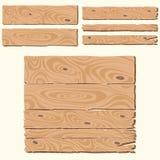 Set of wooden planks royalty free illustration