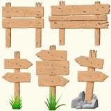 Set of wooden planks vector illustration