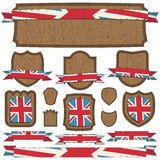 Uk plaques and ribbons Stock Photos