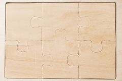 Wooden puzzles Stock Photos