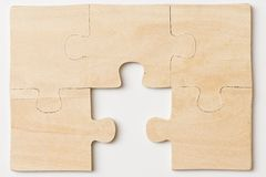 Wooden puzzles Royalty Free Stock Image