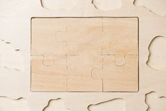 Wooden puzzles Stock Image