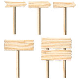 Set of wooden sign boards Royalty Free Stock Photos