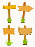 Set of Wooden sign boards. Stock Images