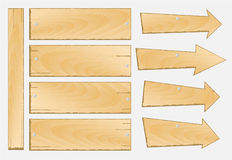 Set of wooden sign vector Royalty Free Stock Photo