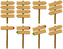 Set wooden signs Royalty Free Stock Images