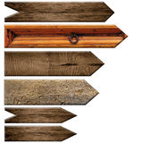 Set of wooden signs Royalty Free Stock Photo