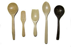 Set of wooden spoon Stock Photography