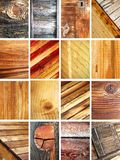 Set of wooden texture Royalty Free Stock Images