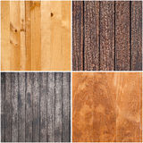 Set of wooden textures Stock Photo
