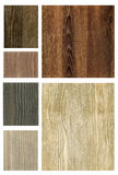 Set of wooden textures Royalty Free Stock Image