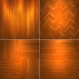 Set of wooden textures Royalty Free Stock Images