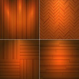 Set of wooden textures Stock Images