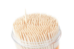 A set of wooden toothpicks, an isolated. Stock Photography