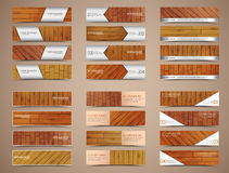 Set of wooden web banners Stock Photo