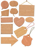 Set Of Woodgrain Icons Royalty Free Stock Photography