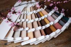 Set of woolen thread Stock Images