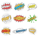 Set of Wording Sound Effects for Comic Speech Bubble Stock Images
