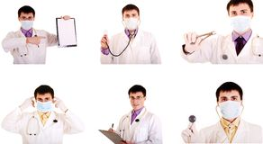 Set work doctor. Royalty Free Stock Image